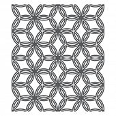 Oriental Pattern, seamless chain link fence ornament