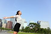 image of japan girl  - Freedom success businesswoman  - JPG
