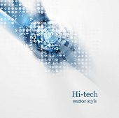 Blue grunge hi-tech abstract background. Vector design