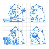 stock photo of pig  - Illustration - JPG