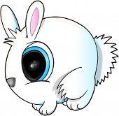 Cute Easter Bunny Rabbit Vector Illustration Art