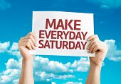 Make Everyday Saturday card with sky background