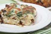 Vegetable Casserole   Of Potatoes With Dried Porcini Mushrooms And Onions.