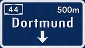 Dortmund Germany Highway Road Sign