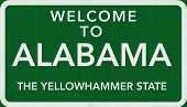 Alabama USA Welcome to Highway Road Sign
