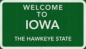 Iowa USA Welcome to Highway Road Sign