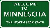 Minnesota USA Welcome to Highway Road Sign