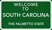 South Carolina USA Welcome to Highway Road Sign