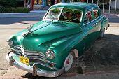 old american machine in the street of Varadero