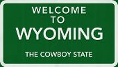 Wyoming USA Welcome to Highway Road Sign
