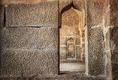 pic of karnataka  - Elephant stables with arches in Hampi Karnataka India - JPG