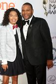 LOS ANGELES - FEB 6:  Yara Shahidi, Anthony Anderson at the 46th NAACP Image Awards Arrivals at a Pasadena Convention Center on February 6, 2015 in Pasadena, CA