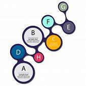 Infographic Metaball Element Flat Vector Design