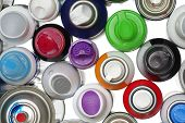 spray paint can objects isolated 4