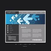 One Page Website Template with Header Background Design - Business Concept