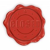 Wax Stamp Closed (clipping path included)