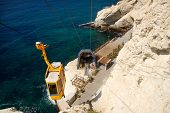 image of grotto  - Cable car to Rosh HaNikra grotto in North Israel - JPG