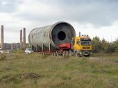 Transportation Of Oversized Cargo - Industrial Rotary Tube Furnace