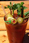 Bloody Mary With Olives And Celery