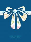 Vector colorful horizontal ogee gift bow silhouette pattern frame