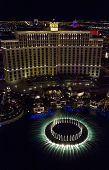View From The Top Of The Bellagio Hotel At Night