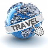 Global travel, 3d render
