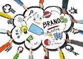 DIverse Hands Holding Isolated Marketing Brand Concept