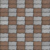 Seamless Texture of Pavement as Wavy Parallelogram.
