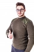 Thumb Up Sweater Guy