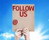 Follow Us and a Copy Space to Put Your Profile card with beautiful day