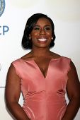 LOS ANGELES - FEB 6:  Uzo Aduba at the 46th NAACP Image Awards Arrivals at a Pasadena Convention Center on February 6, 2015 in Pasadena, CA