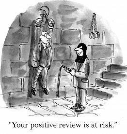 foto of torture  - Cartoon of associate about to torture his businessman boss - JPG