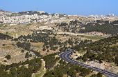 picture of israel people  - Traffic on the east passage way of road number 01 to Jerusalem Israel - JPG