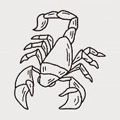 stock photo of scorpion  - Scorpion Doodle - JPG