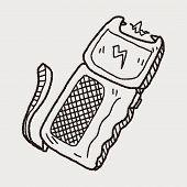 picture of taser  - Stun Gun Doodle - JPG