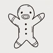 pic of ginger man  - Gingerbread Man Doodle - JPG