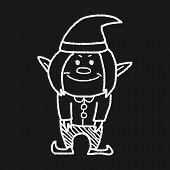 stock photo of elf  - Elf Doodle - JPG