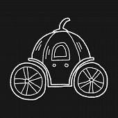 foto of cinderella coach  - Pumpkin Carriage Doodle - JPG
