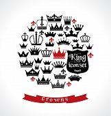 picture of vintage jewelry  - Crowns vintage set - JPG