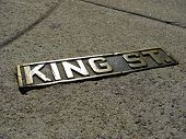 Постер, плакат: Sign Of The Historic King Street In Charleston 2008