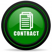 picture of contract  - contract green icon  - JPG