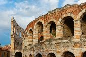 stock photo of arena  - Ancient Roman Arena in Verona - JPG