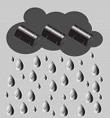picture of petroleum  - Petroleum rain - JPG