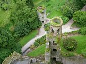 Blarney Castle Towers From Above In Ireland