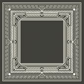 pic of initials  - Vector floral and geometric monogram logo on dark gray background - JPG