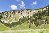 picture of bavaria  - View to summit of Jaegerkamp in the Alps in Bavaria Germany - JPG