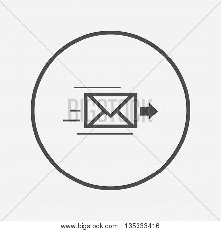 poster of Mail delivery icon. Envelope symbol. Message Flat envelope icon. Simple design envelope symbol. Envelope graphic element. Round button with flat envelope icon. Vector