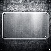 metal sign background