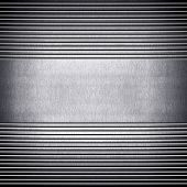 metal plate with stripe