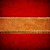 leather background with strip